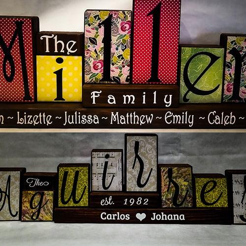 family blocks decor